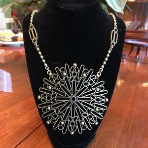 NWT BR Geo Sunburst Statement necklace